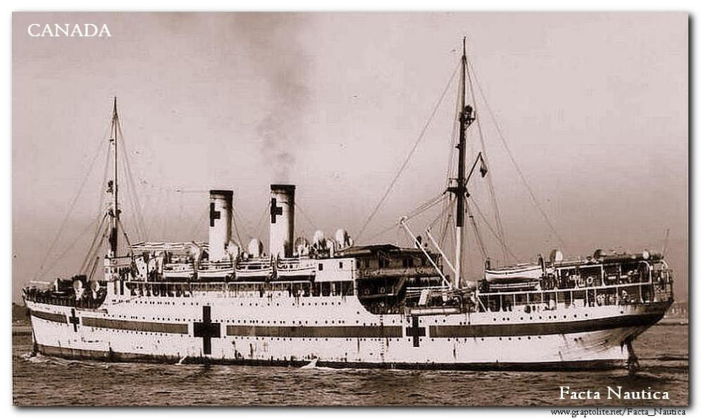 The French hospital ship CANADA.